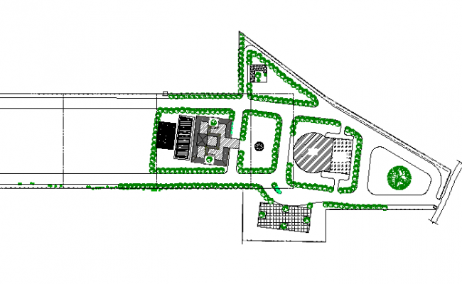Layout plan commercial building plan dwg file