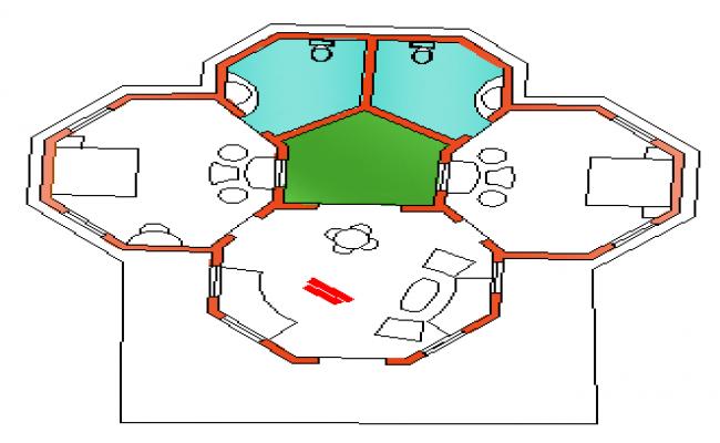 Layout plan design of VIP villa design drawing