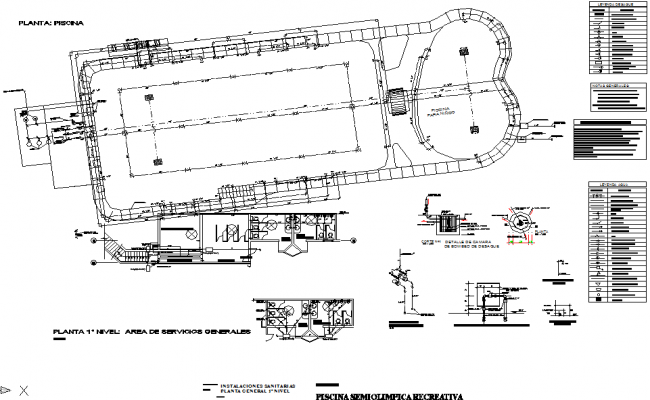 Layout plan detail dwg file