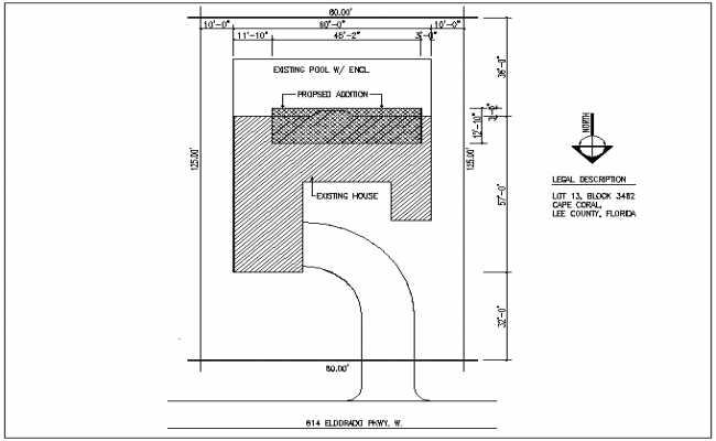 Layout plan detail of the plot area land spacing garden area dwg files