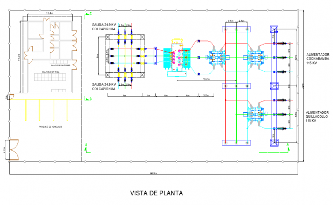 Layout plan electric substation layout file