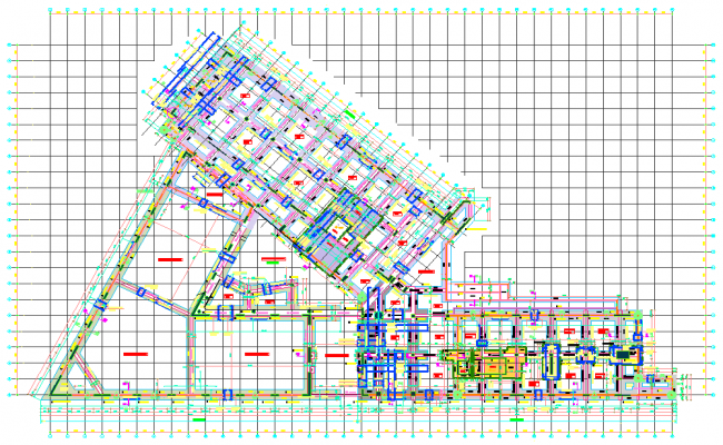 Layout plan industrial plant autocad file