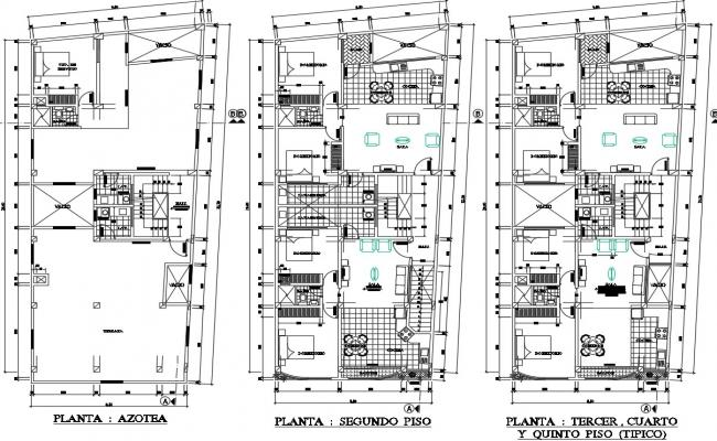 Layout plan of 2d cad-house in autocad