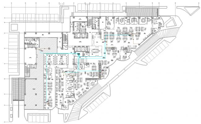Layout plan of Building Floor dwg file
