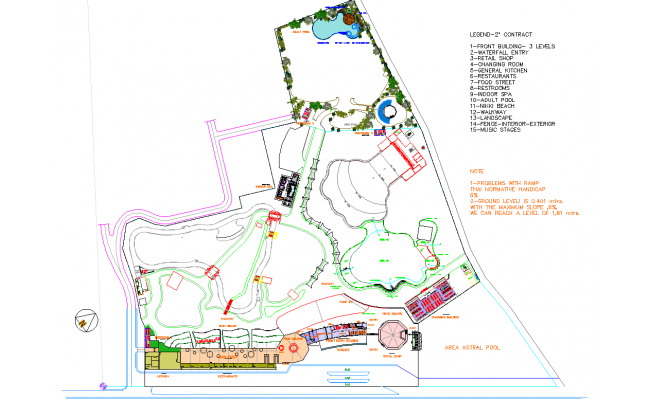 Layout plan of Club House Project