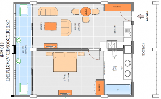 Layout plan of Small House design
