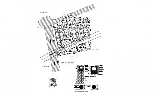 Layout plan of a residential apartment in AutoCAD