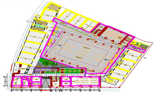 Layout plan of a school dwg file
