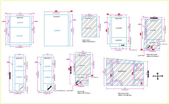 Layout plan of final demolishing plan of office view dwg file