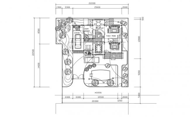 Small House Layout Plan In DWG File