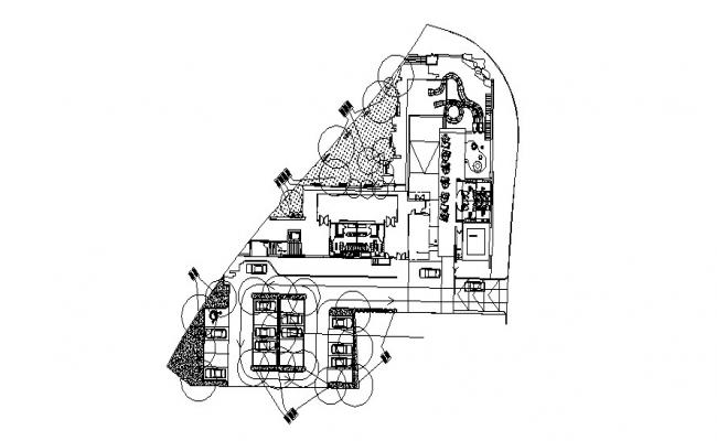 Layout plan of the clubhouse in dwg file