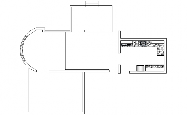 House Plan Layout In DWG File
