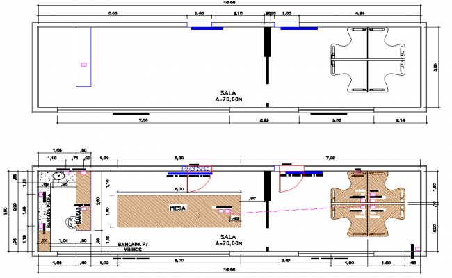 Layout planning detail dwg file
