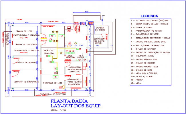 Layout plant of industrial area dwg file