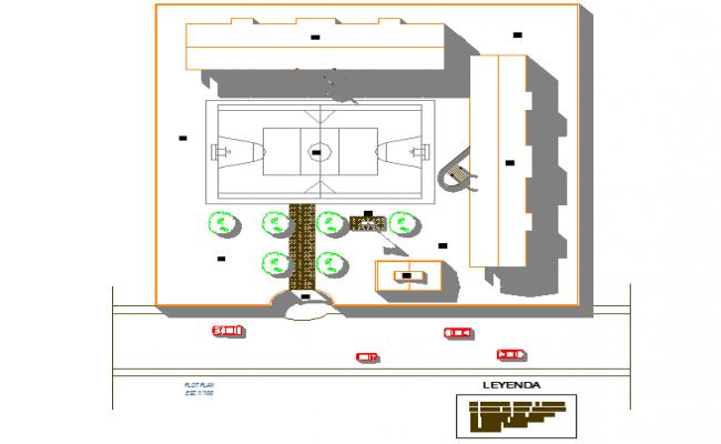 Layout plot detail dwg file