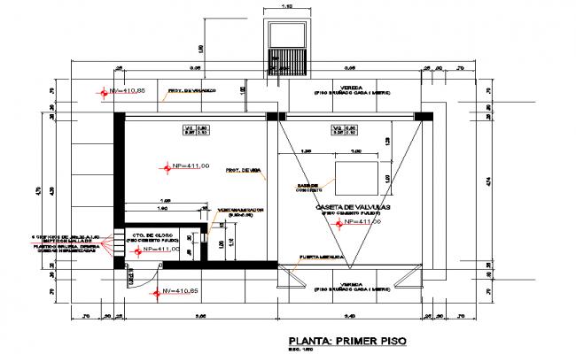 Layout plot house plan detail dwg file