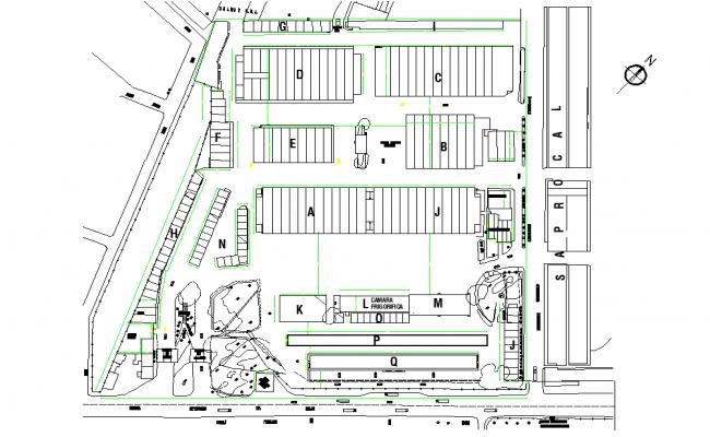Layout plot plan detail dwg file