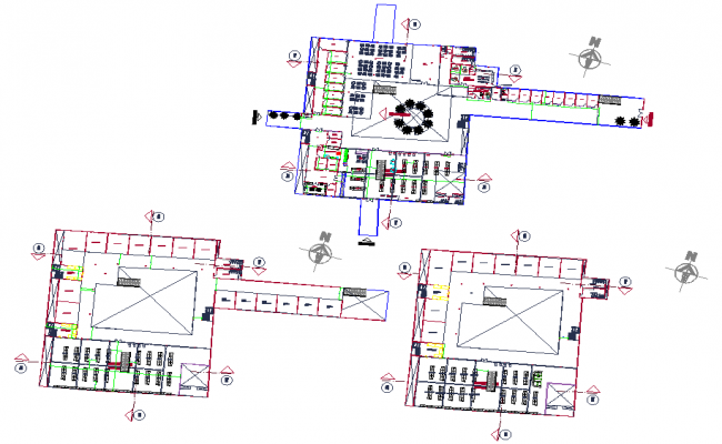 Layout working mall detail dwg file