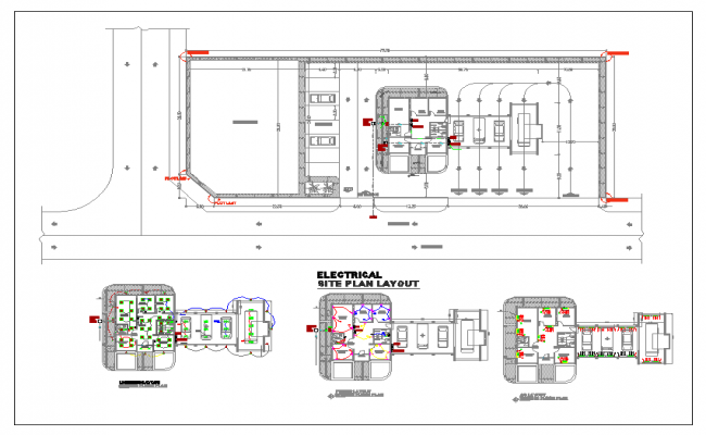 Layoutplan of hotel dwg file
