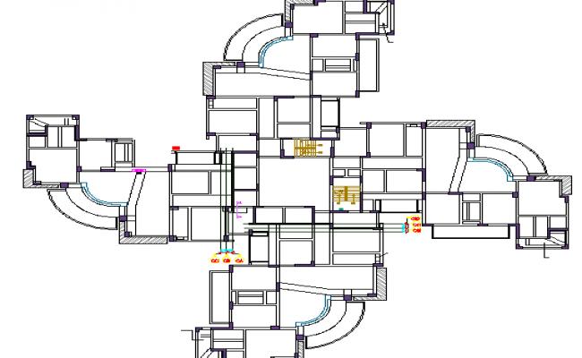 Ledge details architecture project dwg file