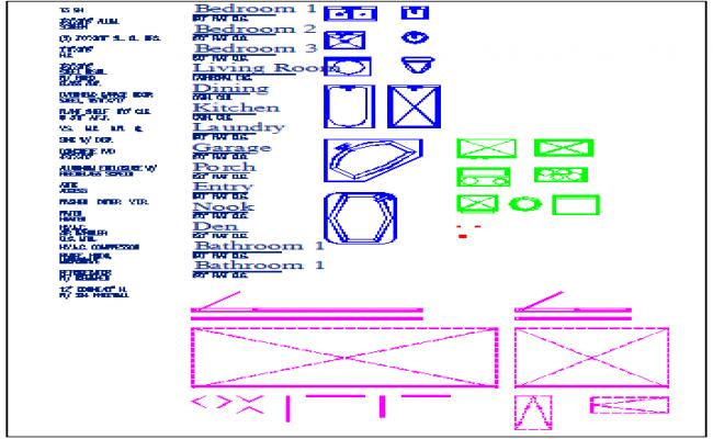 Legend detail and blocks detail dwg file