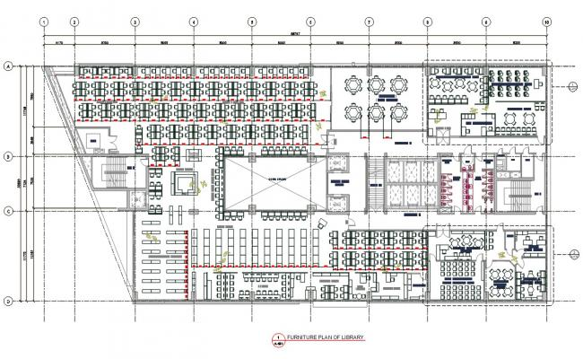 Library Furniture Plan AutoCAD File