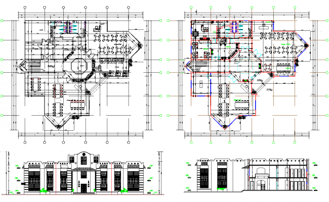 Library Plan and Elevation Design