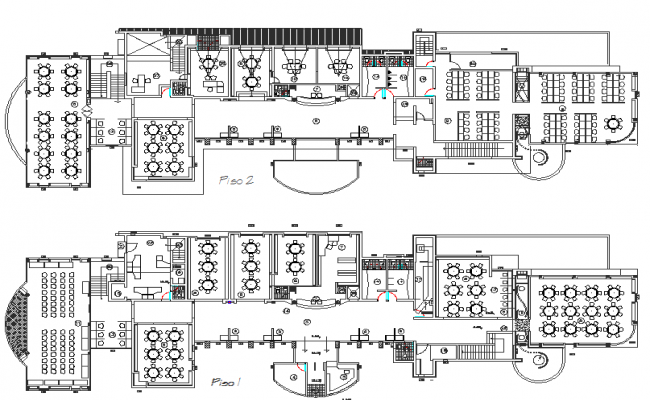 Library commercial plan detail dwg file