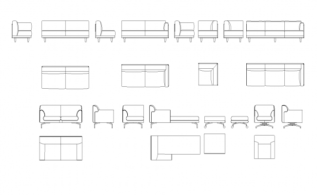 Library Of Sofa Plan Detail Dwg