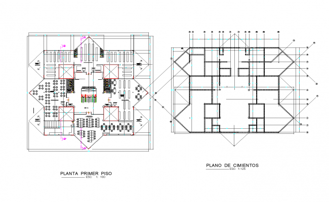 Library plan detail dwg.