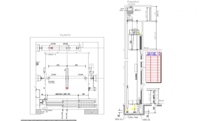 Lift Elevators Detail In Cad