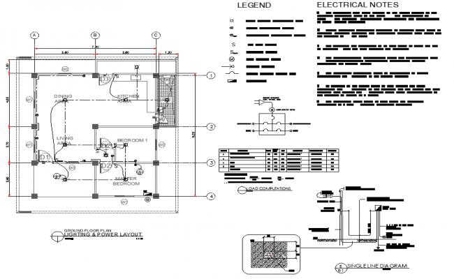 Lighting Power Layout Detail Dwg File