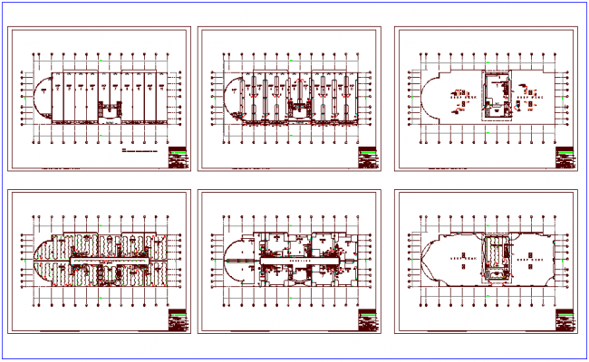 Lighting and  power view plan for shopping mall dwg file