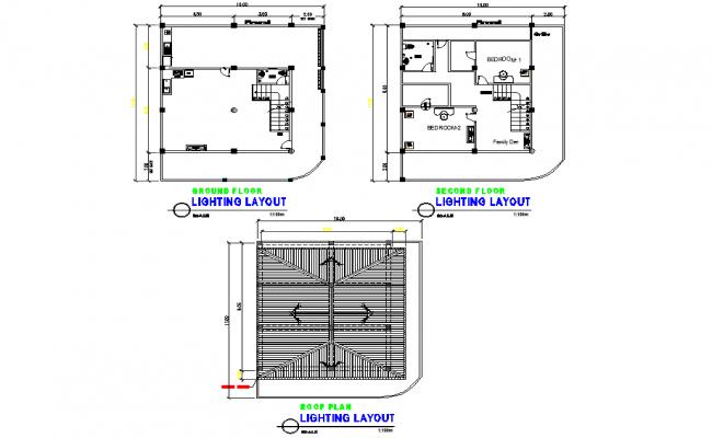 Lighting layout detail dwg file