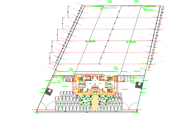 Lighting rod connection installation plan detail dwg file