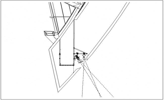 Lighting view with electrical system and its support view dwg file