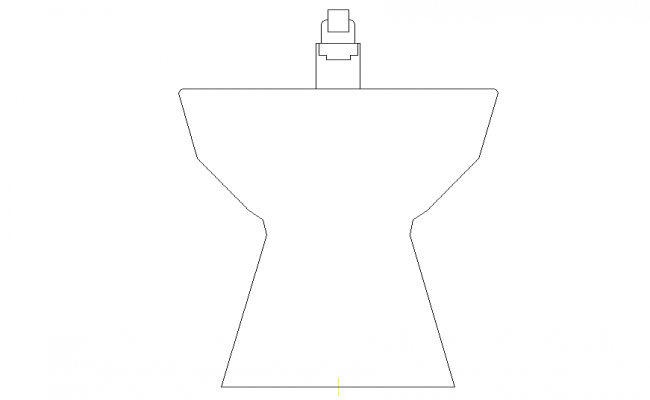 Line drawing of Sanitary Wash basin 2d view CAD block autocad file
