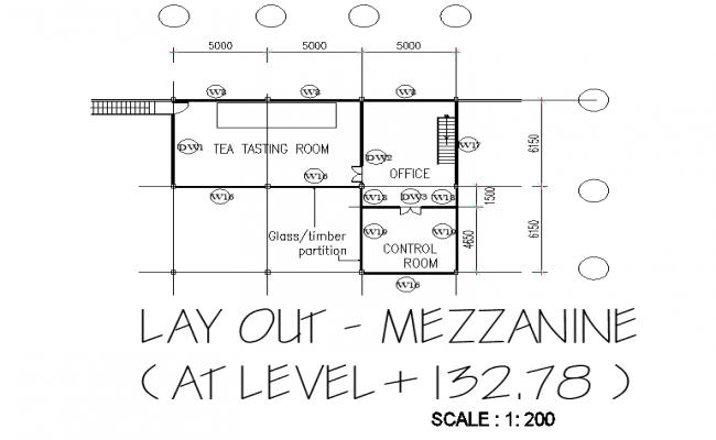 Line factory plan detail dwg file