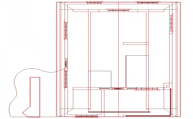 Line house plan detail