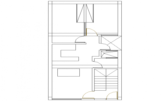 Line house plan detail dwg file