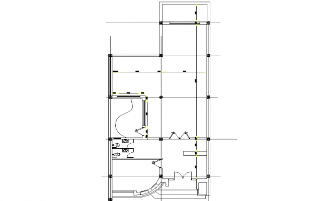 Line house plan layout dwg file