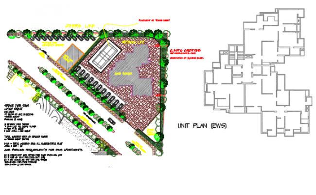 Line plan detail dwg file