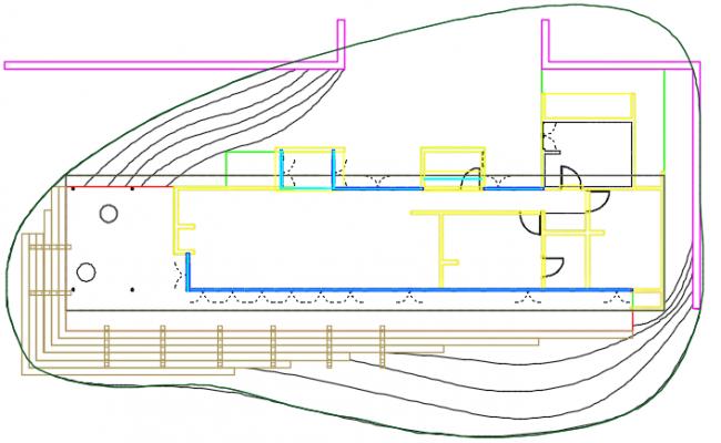 Line plan house detail dwg file