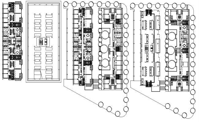 Living Apartment Design Architecture CAD plan