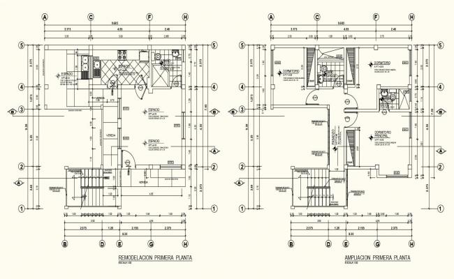 Living place floor plan with architecture view dwg file