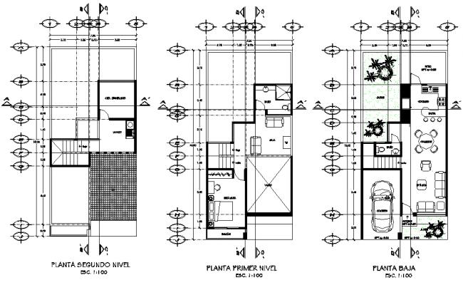 Living place plan detail dwg file