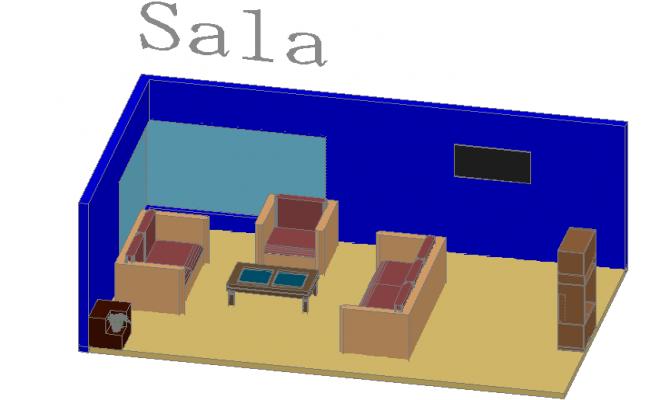 Living room  3d details