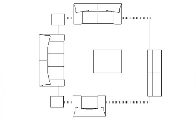 living room furniture cad block design details dwg file