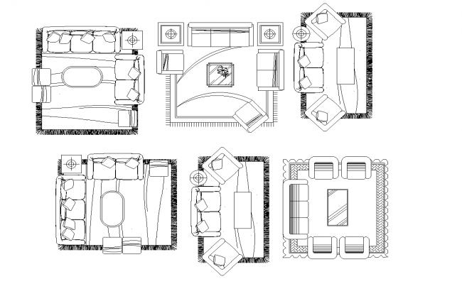 living room plan detail dwg
