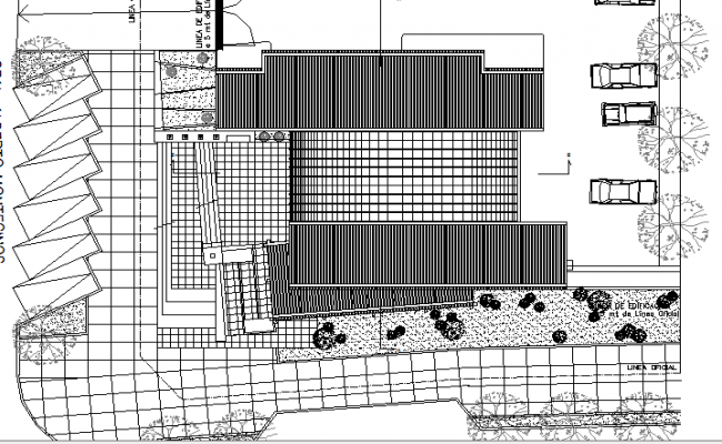 Local Office Architecture Design Structure dwg file